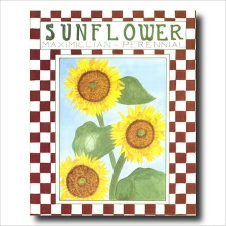 Country Sunflower Folk Wall Picture Art Print (Country Folk Art Decor)