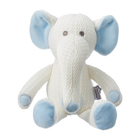Blue Elephant Stuffed Animal (Tommee Tippee Hypoallergenic Stuffed Animal Breathable Toy, Eddy the Elephant – 0+)