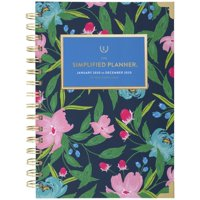 Emily Ley Simplified Navy Floral Weekly-Monthly Hardcover Planner - 2020 Yearly