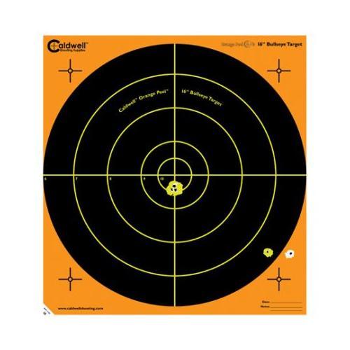 Caldwell Orange Peel 16-in Bullseye Targets, 10 SHeets - by BATTENFELD