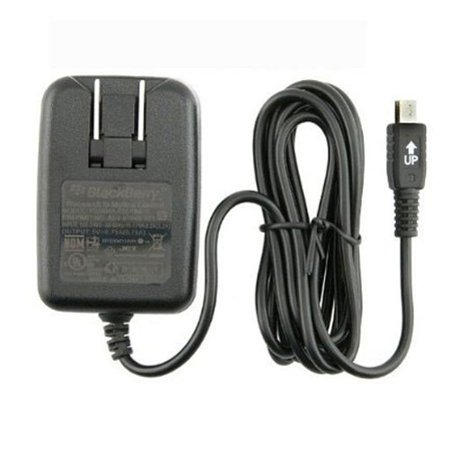 OEM Mini-USB Home Wall Outlet Charger Travel AC Power Adapter Compatible With Blackberry Pearl 8130 8120 8110 8100, 8820, 8800 - HTC Touch Pro Fuze 2, Diamond, Tilt 2, Snap S511, SMT5800 B9W