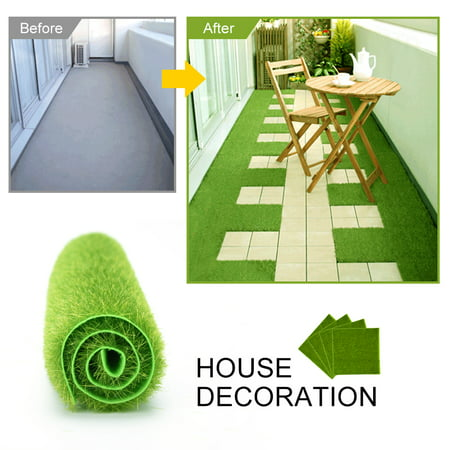 2 Sizes Synthetic Artificial Grass Mat Turf Lawn Garden Micro Landscape Ornament Home Decor,Artificial Grass, Synthetic
