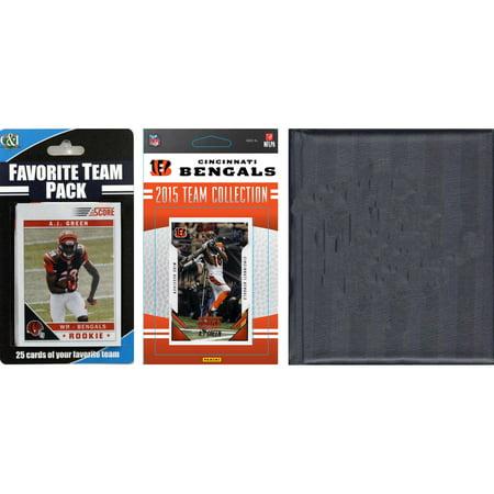 C&I Collectables NFL Cincinnati Bengals Licensed 2015 Score Team Set and Favorite Player Trading Card Pack Plus Storage - Halloween Stores In Cincinnati