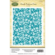 """JustRite Papercraft Cling Background Stamp, 4.5"""" x 5.75"""", Butterfly"""