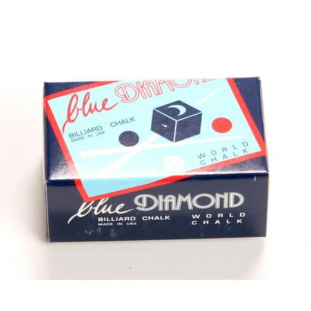 Diamond Pave Jewelry Box - Blue Diamond Billiard Chalk 2 Pieces per Box