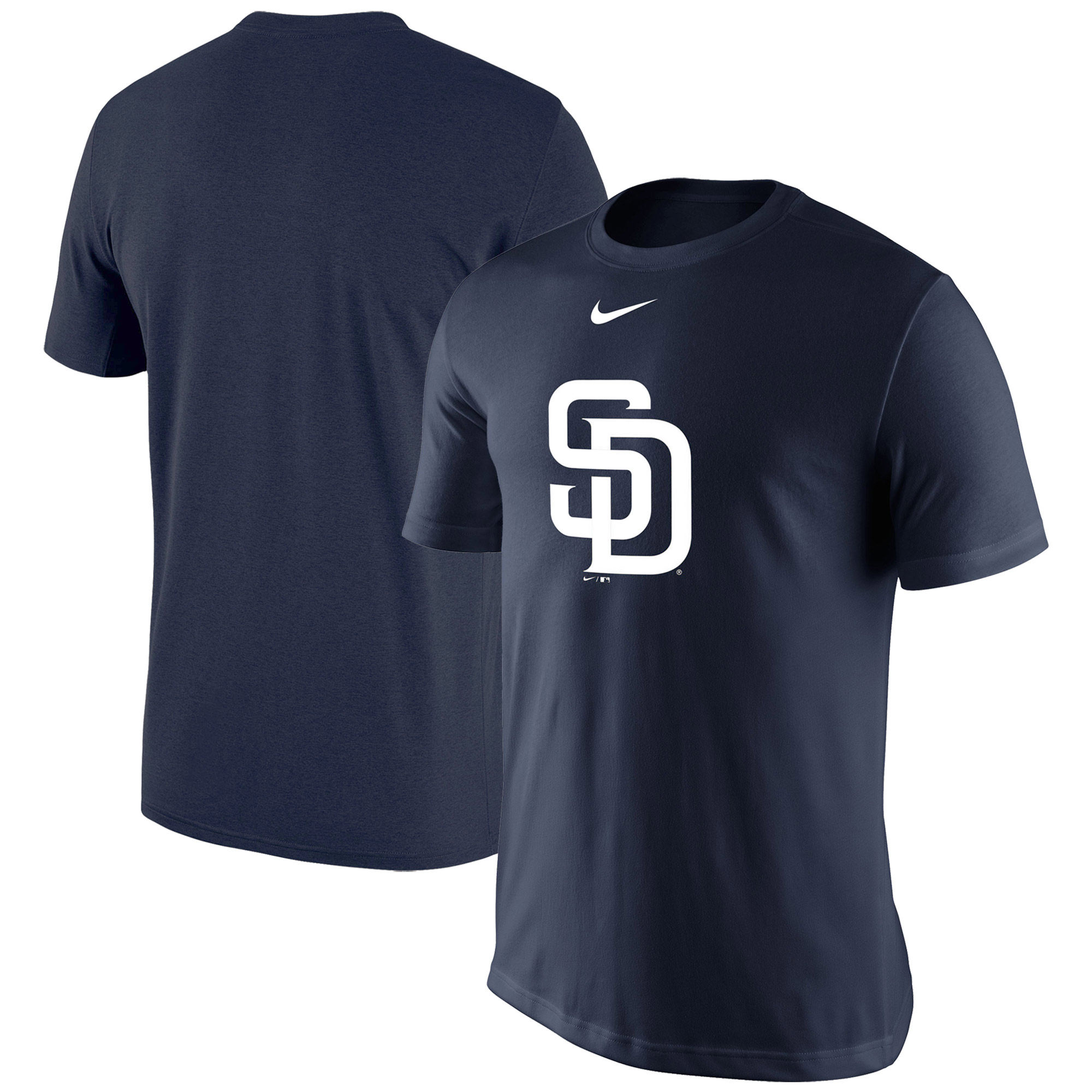 San Diego Padres Nike Legend Batting Practice Primary Logo Performance T-Shirt - Navy