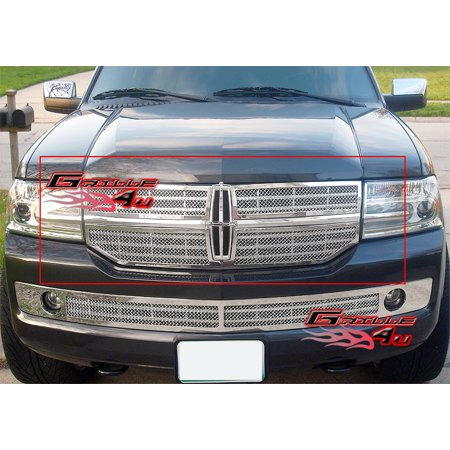 Fits 2007-2014 Lincoln Navigator Stainless Steel Mesh Grille Grill Insert # L75016T - Lincoln Navigator Bumper Grille