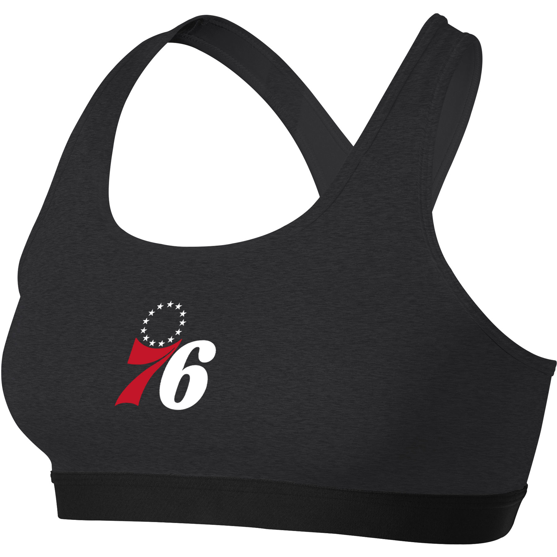 Philadelphia 76ers Nike Women's Primary Logo Performance Pro Classic Sports Bra - Heathered Charcoal