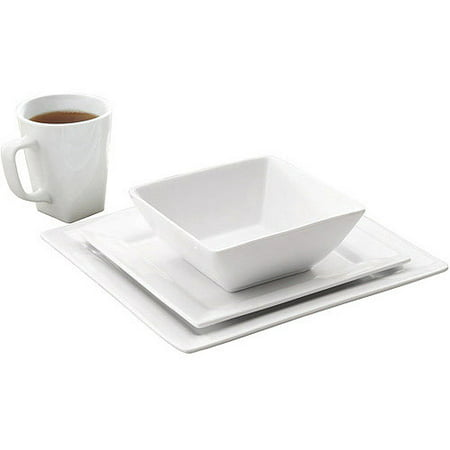 Better homes gardens 16 piece square dinnerware set - Better homes and gardens customer service ...