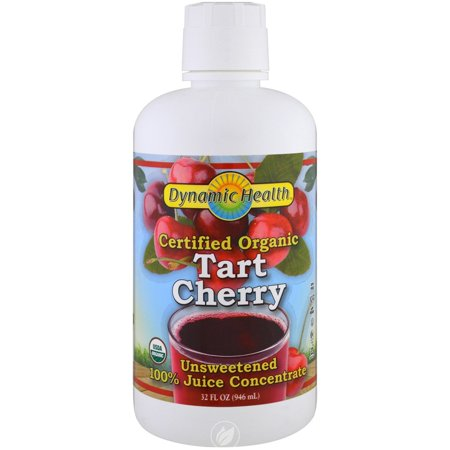 DYNAMIC HEALTH LABORATORIES INC Tart Cherry Concentrate Certified Organic 32 OUNCE, Pack of 2 32 Ounce Red Nectar