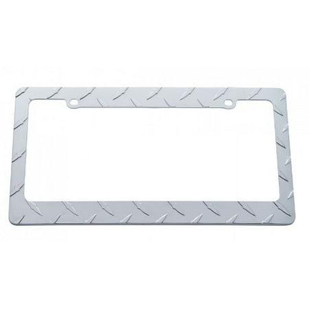 Chrome Diamond Car Pickup Truck License Plate Tag Frame Holder / Ford (White License Plate Frame)