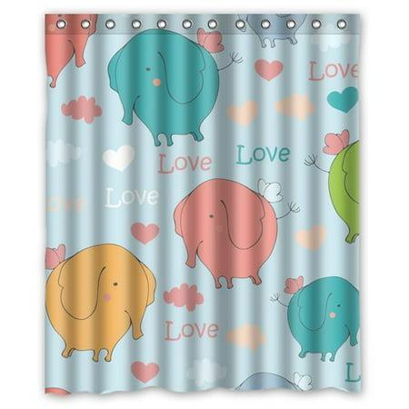 BOSDECO Elephant Shower Curtain 60x72 inches - image 1 of 1
