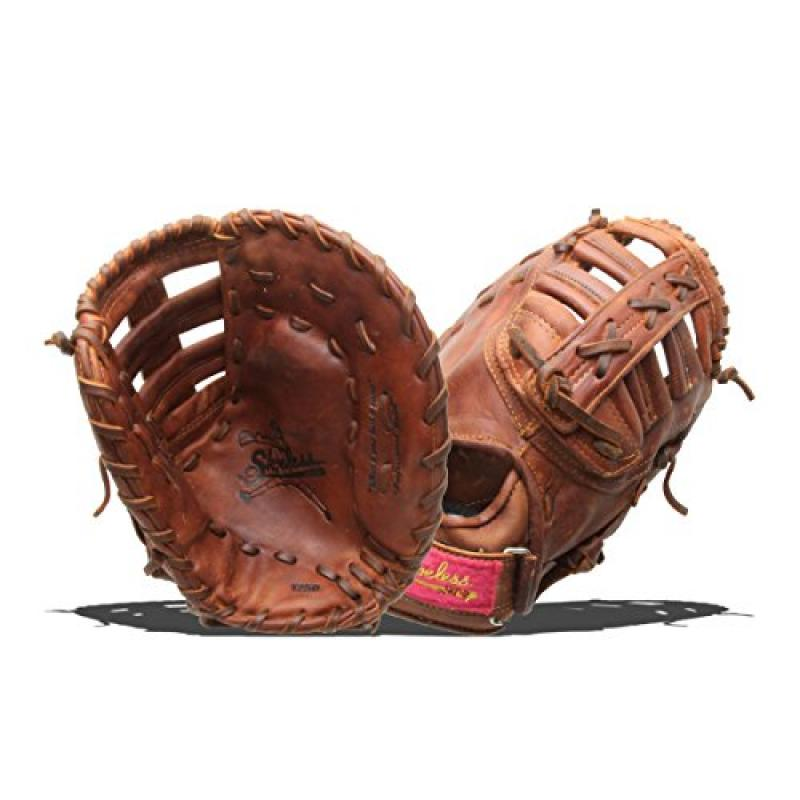 Shoeless Joe Gloves Fast Pitch Brown First Base Glove, Ri...