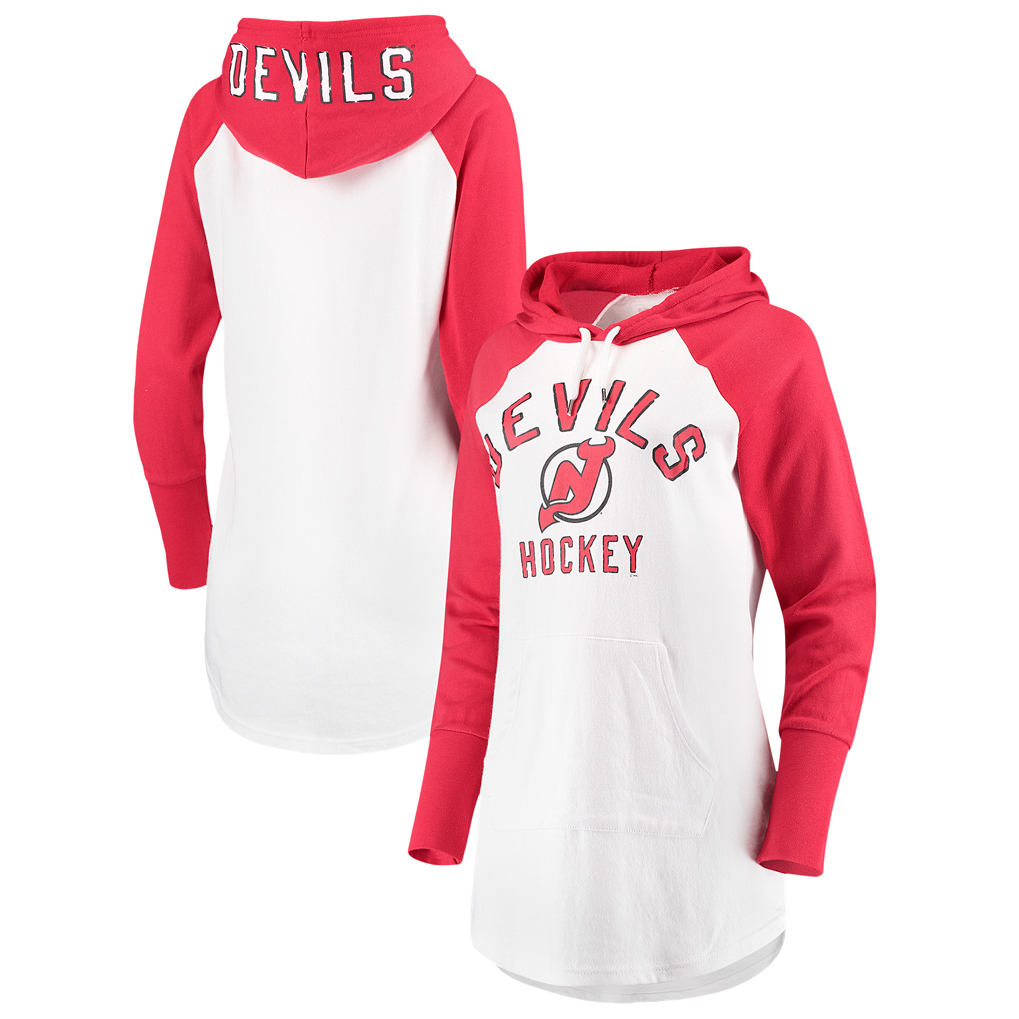 New Jersey Devils G-III 4Her by Carl Banks Women's All Division Pullover Hoodie - White/Red