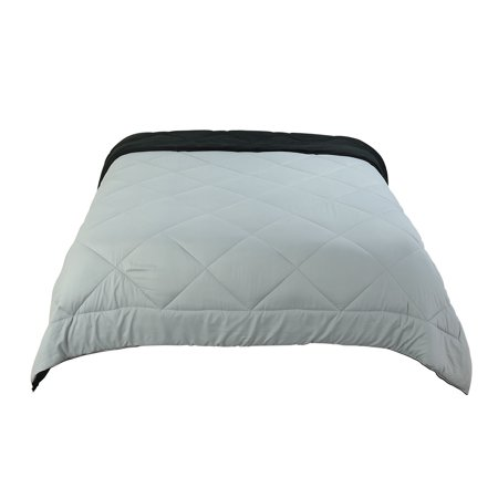 All-Season Quilted Comforter Duvet Insert Polyester Fill Warm King Light Gray - image 7 de 7