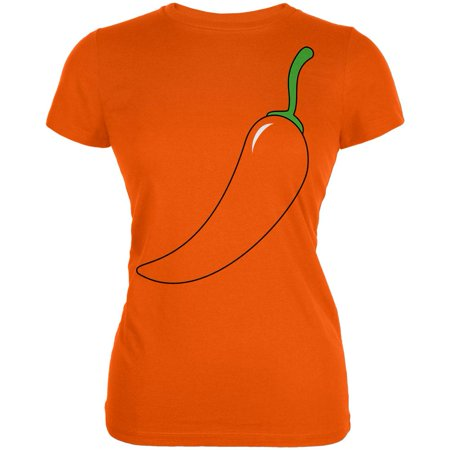 Halloween Chili Pepper Costume of Cinco de Mayo Juniors Soft T Shirt - Mayor Costume
