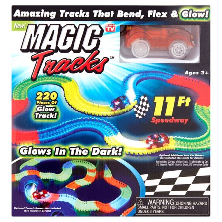 Glow In The Dark Magic Tracks Crash Kit - Bendable Glowing Racetrack