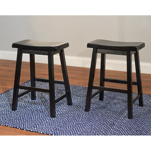 Belfast Saddle 24  Stools Set of 2 Multiple Colors  sc 1 st  Walmart & Belfast Saddle 24