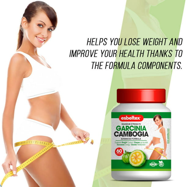Esbeltex Garcinia Cambogia Natural Weight Loss Dietary Supplement