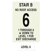 INTERSIGN NFPA-PVC1812(B1N6) NFPASgn,StairIdB,RoofAccssN,FlrsSrvd1to6 G0263518