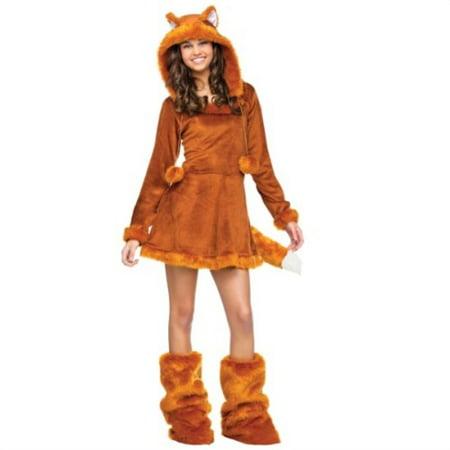 Sweet Fox Costume (fun world sweet fox teen costume, tan, one)