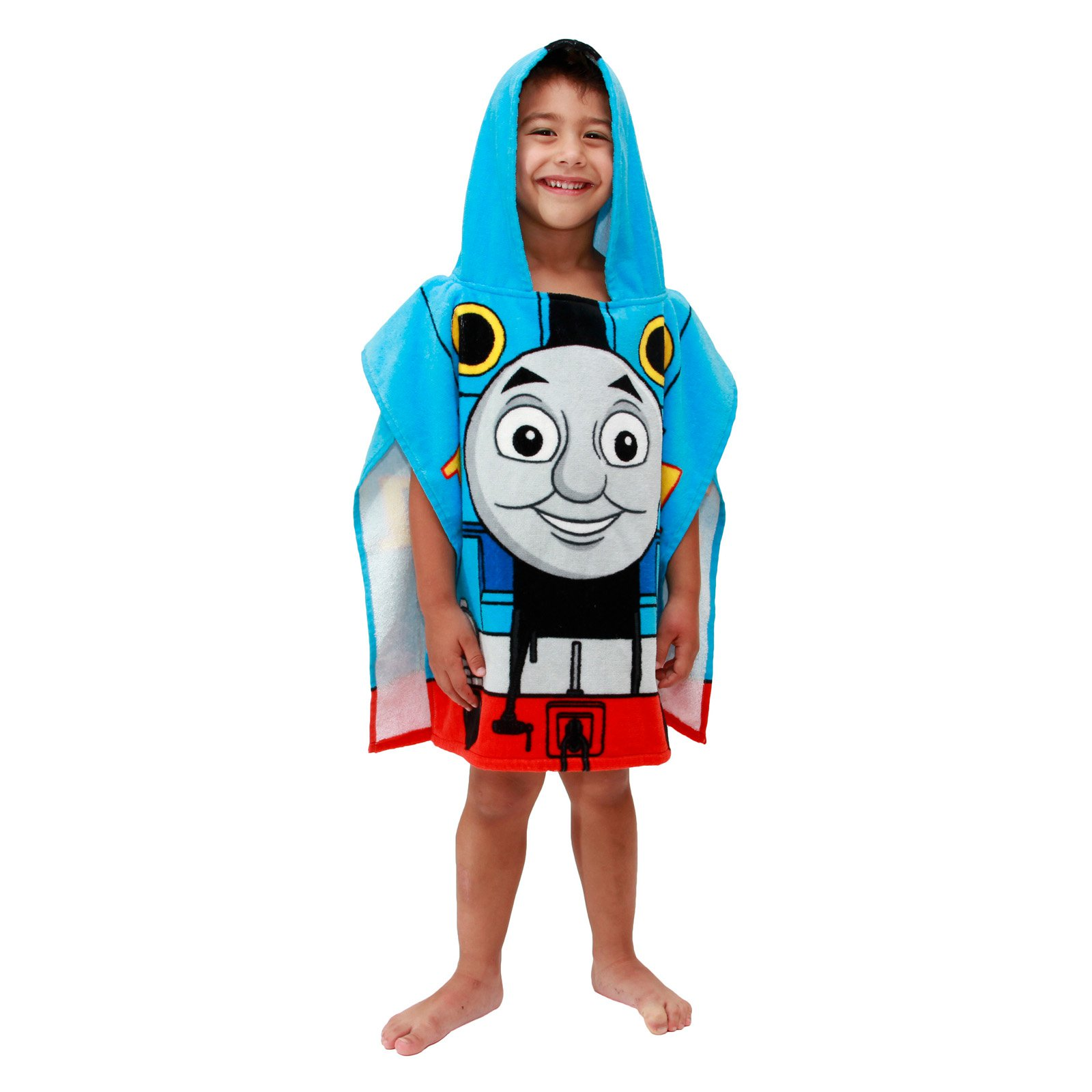 Mattel Thomas The Tank Engine Cotton Hooded Poncho Bath Towel by Jay Franco