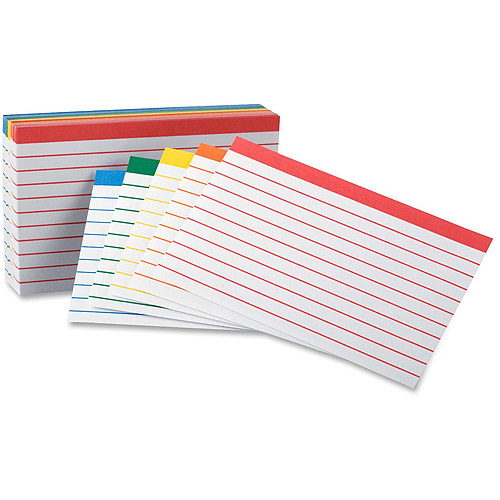 Esselte Oxford Color Coded Bar Ruling Index Cards