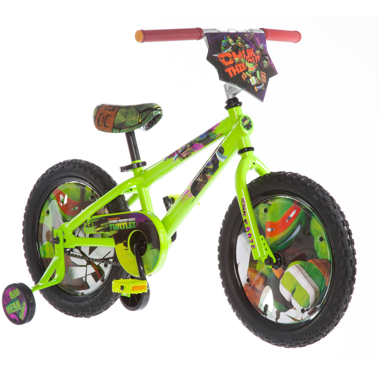 "16"" Nickelodeon Teenage Mutant Ninja Turtles Boys' Bike, Green"