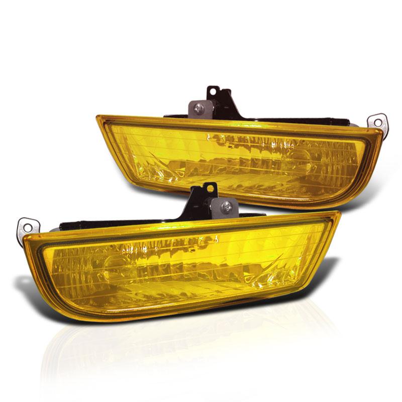 1997-2001 Honda Prelude Yel Bumper Fog Lights Lamp CL Set+Switch+Bulbs+Harness 1998 1999 2000 Pair Left+Right