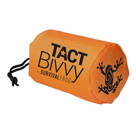 TACT Bivvy Emergency Survival Compact Sleeping Bag - Lightweight, Waterproof Bivy Sack Emergency Blanket with HeatEcho Thermal Space Blanket Material, for Survival Kits, Camping & Survival