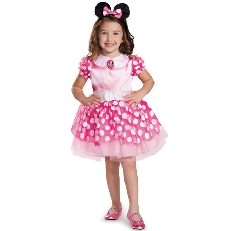Child Pink Minnie Classic Tutu Costume by Disguise - Mickey Mouse Toddler Costume 2t