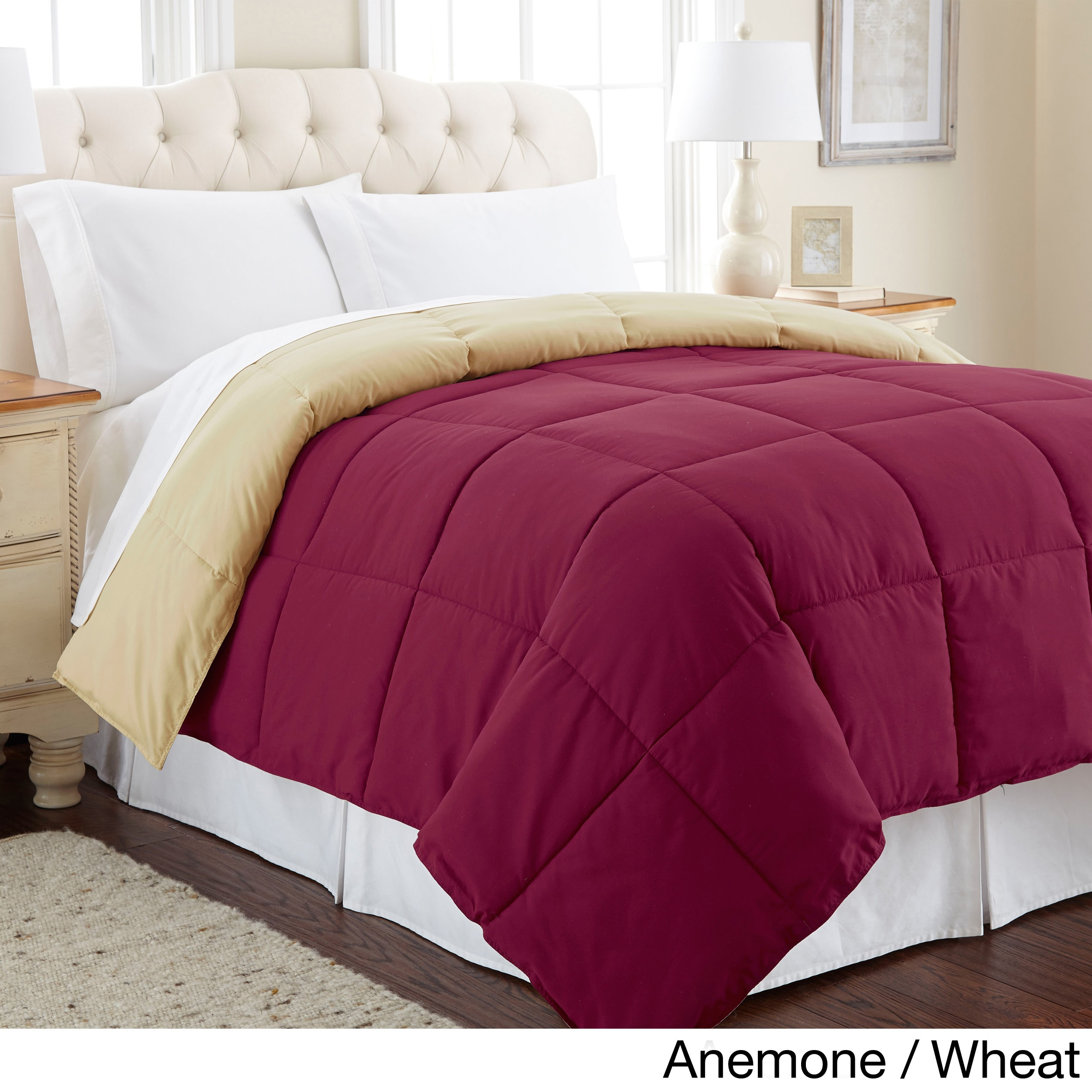 Amrapur Overseas Inc All Season Reversible Down Alternative Microfiber Comforter