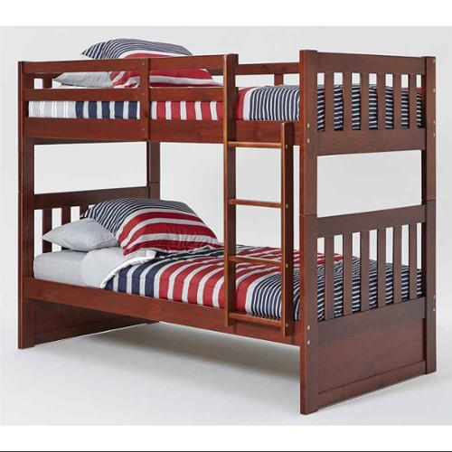 Chelsea Home Furniture 36TT710 Twin Over Mission Bunk Bed with Ladder