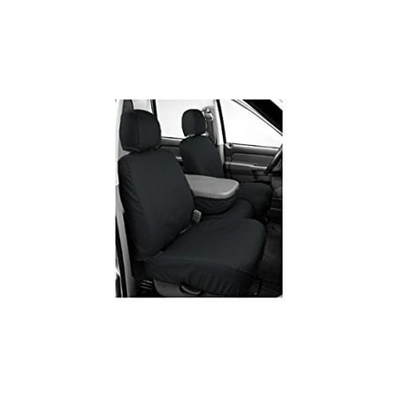 Covercraft SeatSaver Front Row Custom Fit Seat Cover for Select Jeep Wrangler Models - Polycotton (Charcoal)