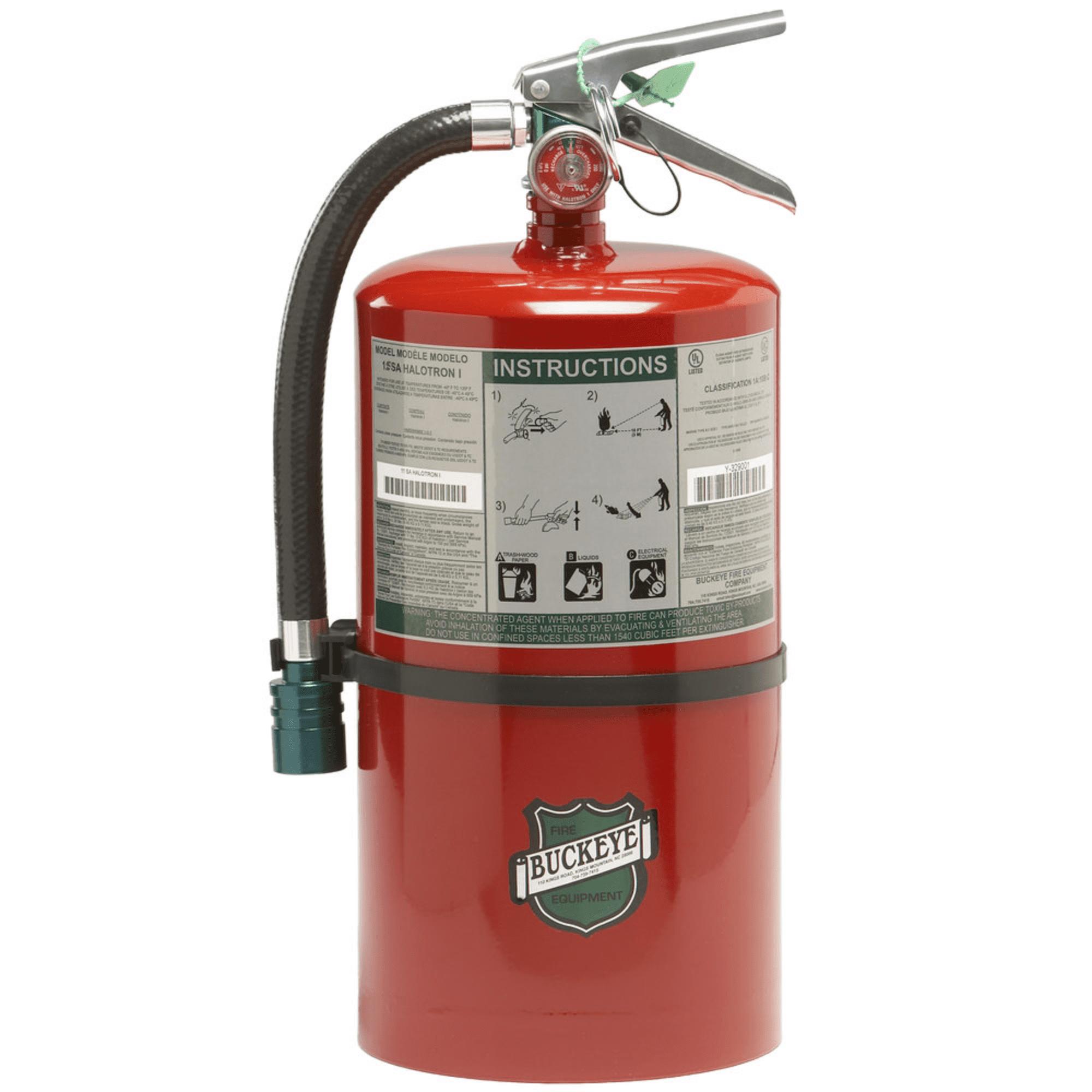 Buckeye Fire Extinguisher, 11 lb Halotron Fire Extinguish...