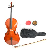 Ktaxon Retro Color 4/4 Size BassWood Cello + Bag + Bow + Rosin + Bridge for Beginner