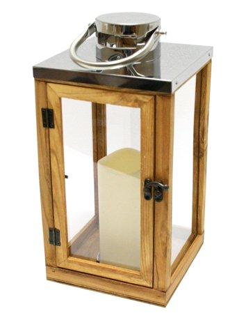 pays en bois rustique et lanterne en verre avec led bougie sans flamme pilier avec minuterie. Black Bedroom Furniture Sets. Home Design Ideas