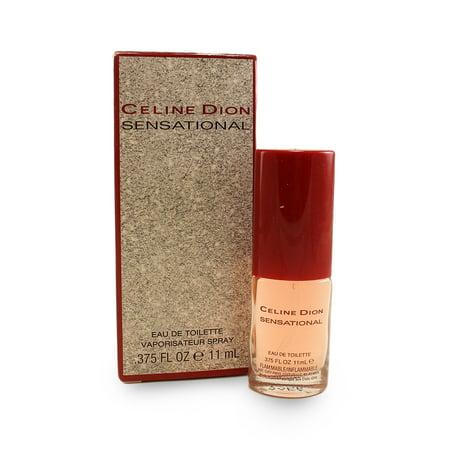 Celine Dion Sensational Eau De Toilette Spray .375 Oz / 11 Ml for Women by Celine Dion (Celine Fashion House)