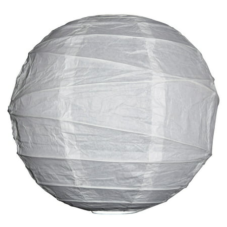 Asian Import Store Distribution 20 in. White Irregular Ribbing Paper - Sky Lanterns In Store
