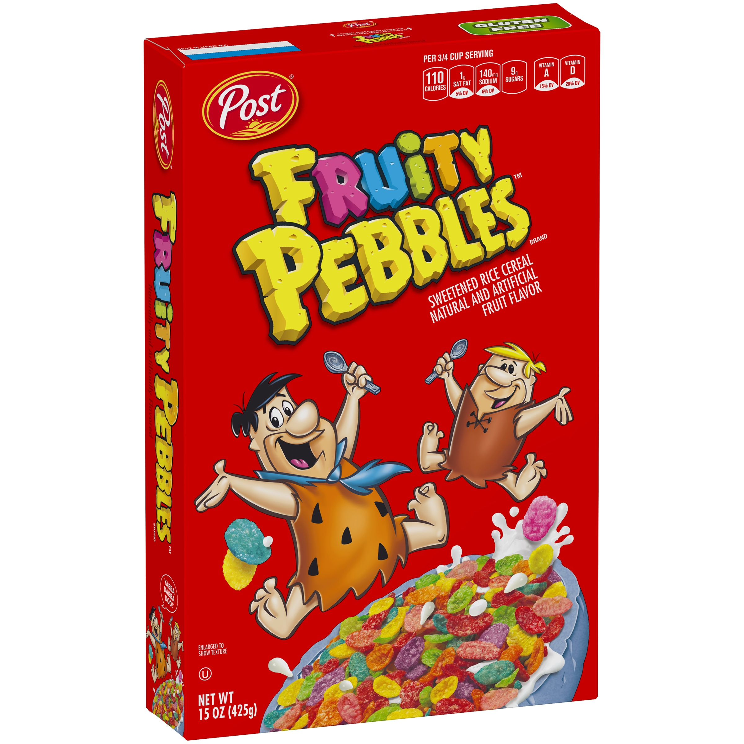 Post Fruity Pebbles Gluten Free Breakfast Cereal, 15 Oz