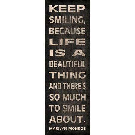 Marilyn Monroe Quote Motivational Art Keep Smiling Vest Happiness Beautiful Life Positive Famous Poster