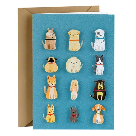 Hallmark Signature Greeting Card (Dogs, Blank Inside) (Blank Inside Art Card)