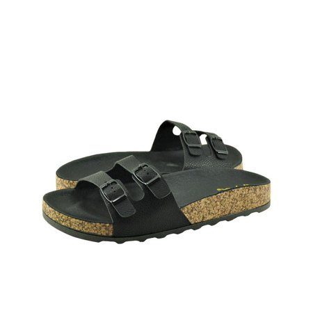 1805b4fb5f1d Qupid nbsp  - Qupid Harvey 01 Women s Shoes Dual Strap Slip On Backless  Slides Black - Walmart.com