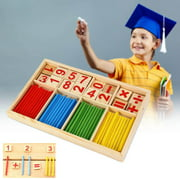 Colorful Bamboo Counting Sticks Kids Mathematics Montessori Preschool Math Learning Toys For Children Educational Gift