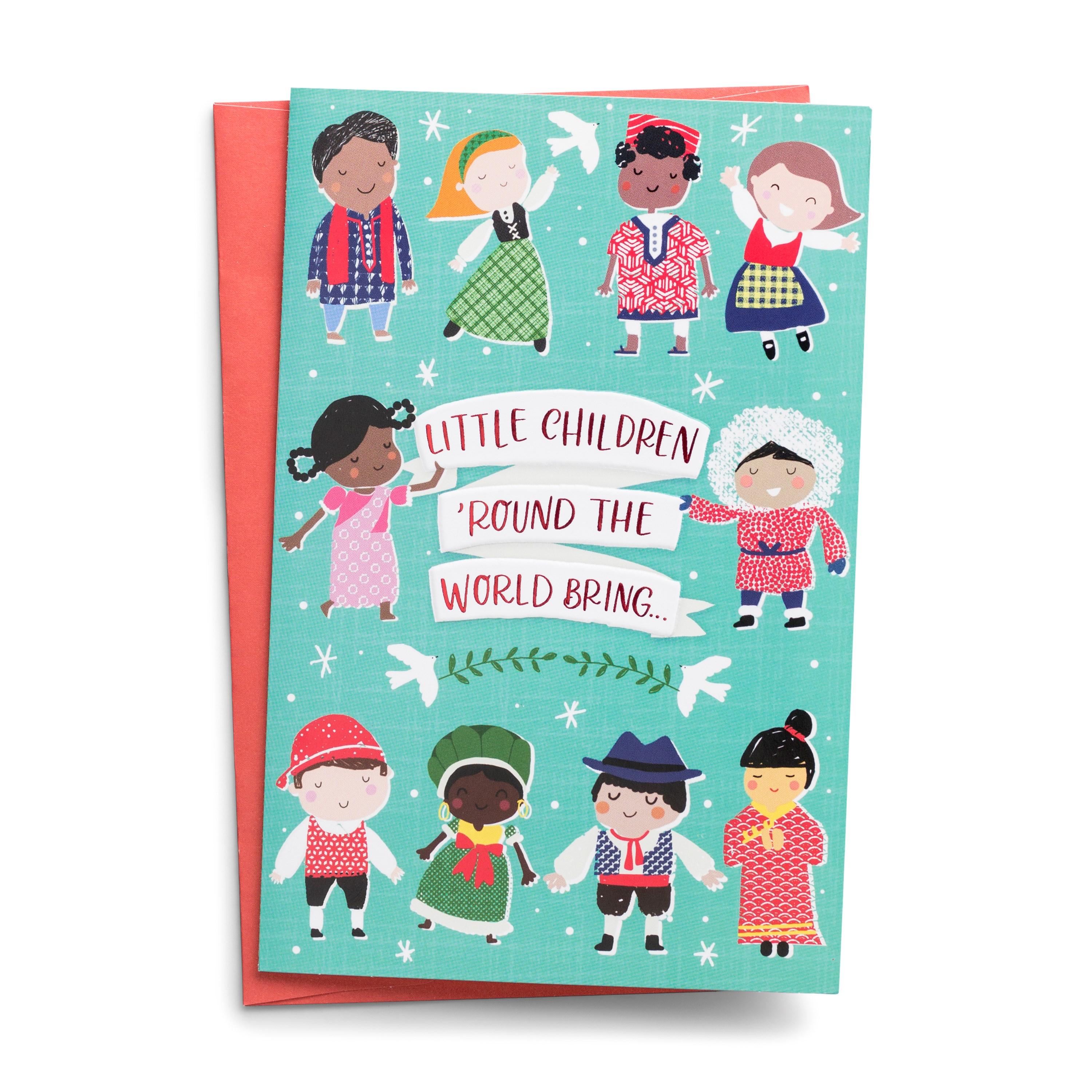 DaySpring  -  Operation Christmas Child - Little Children 'Round the World - 18 Premium Christmas Boxed Cards