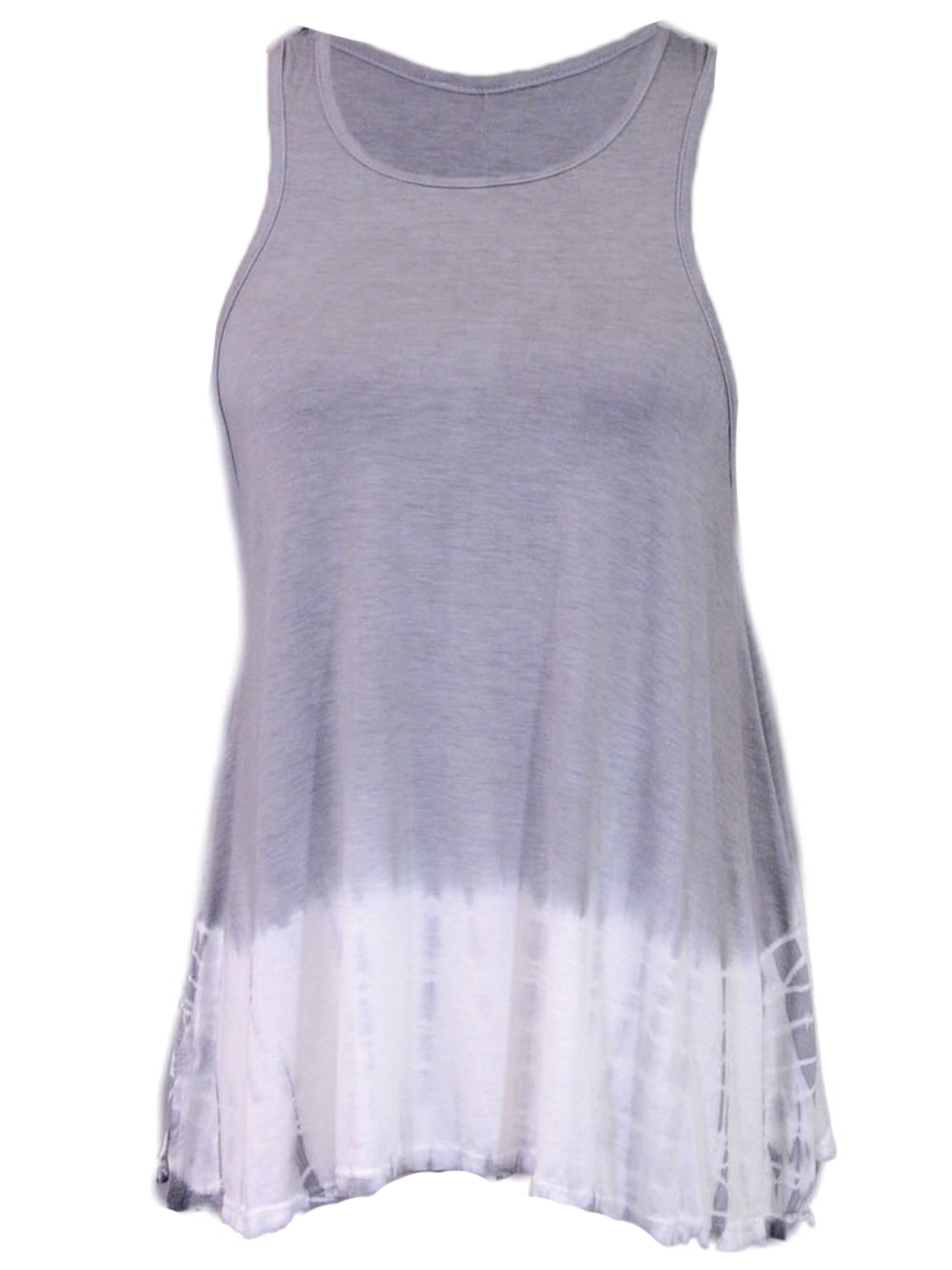 Basil And Lola Casual Flowy Tie Dye Racer Back Strap Flared Sleeveless Tank