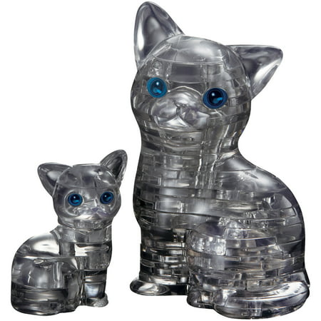 3d Puzzle Piece Tattoo (3D Crystal Puzzle Black Cat and Kitten Puzzle, 49)