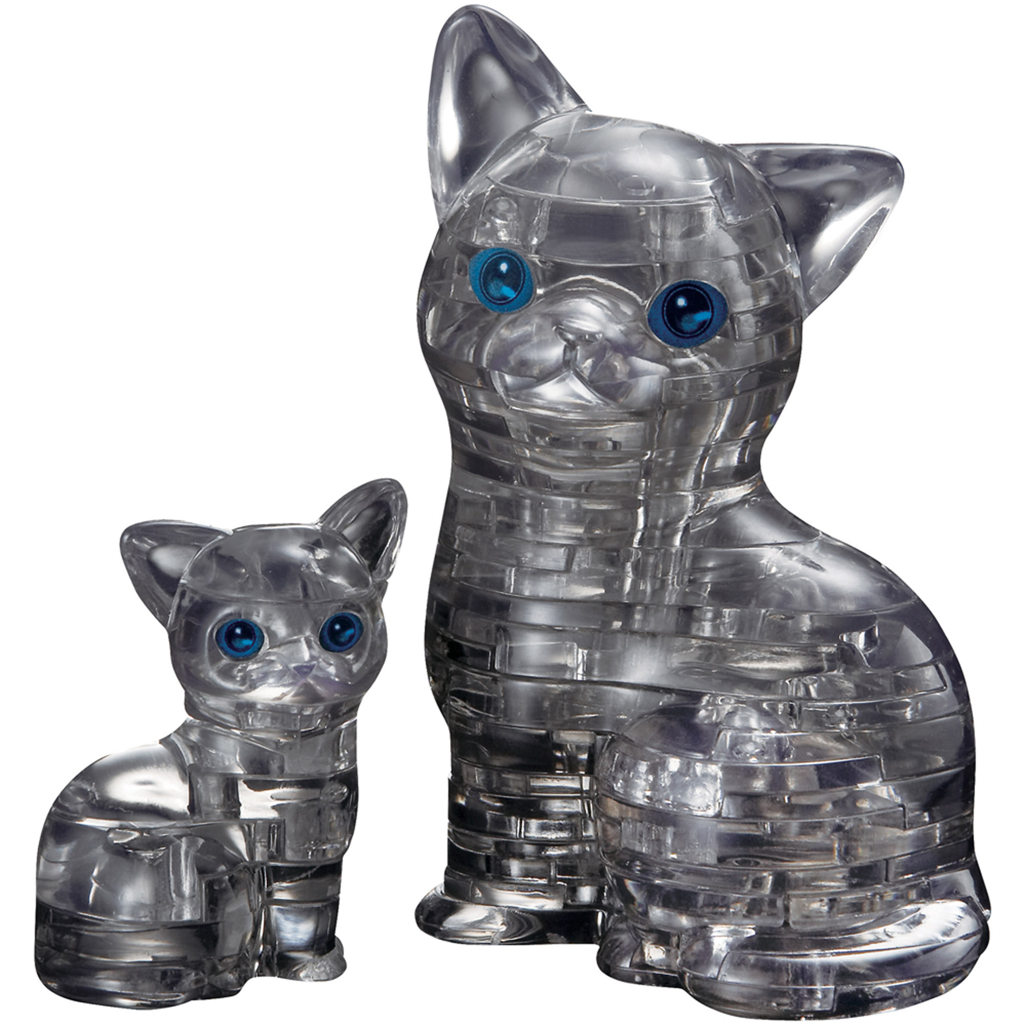 3D Crystal Puzzle Black Cat and Kitten Puzzle, 49 Pieces