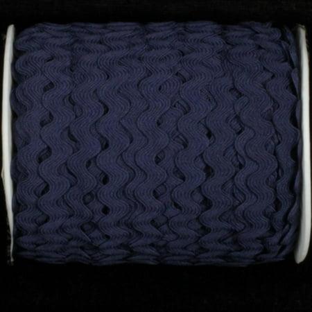 Navy Blue Woven Edge Rick-Rack Craft Ribbon 0.25