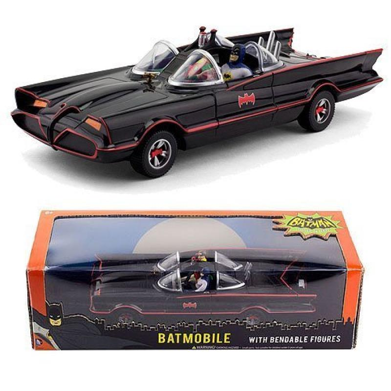 1966 Batmobile W Batman & Robin Mini Bendable Figs by NJ Croce